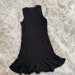 POLO RALPH LAUREN BLACK ZIP UP DRESS